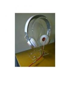 Omega Kopfhörerhalter stehen schwarzes Jabra Logo