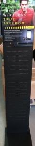 Free Standing Display Elite schwarz  30cmx160cm