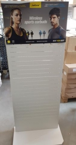 Free Standing Display weiss, 60 x 130 cm