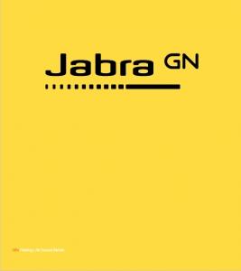 Jabra Logo gelb Roll up Banner 1m