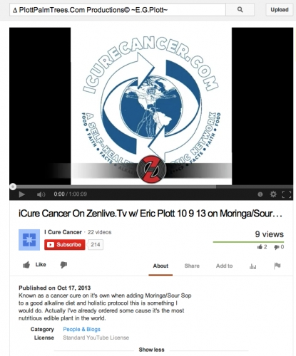The Ian Jacklin Interviews Eric Plott On iCureCancer †Cure4 Cancer, Diabetes, 300 Diseases