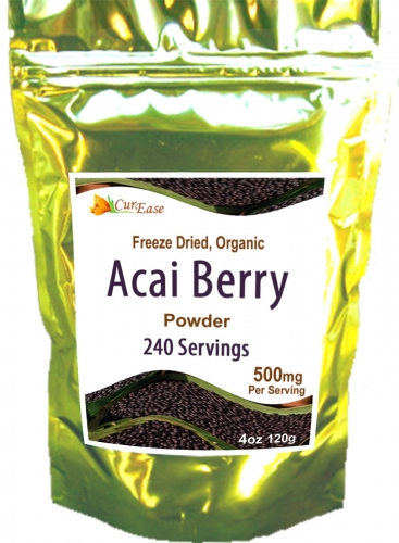 NEW FREEZE DRIED ORGANIC NON GMO ACAI BERRY BURN POWDER ~PLOTTPALMTREES.COM