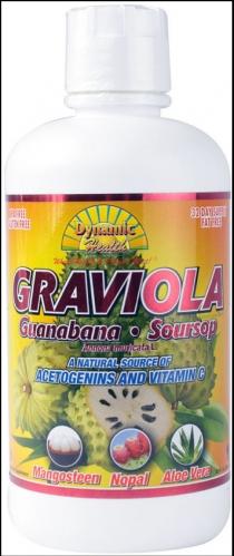 Soursop-Graviola  Extract Juice Blend, Dynamic Health, 32 oz