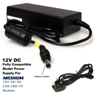 12V 3A/ 5A Compatible With MEDION LCD LED TV