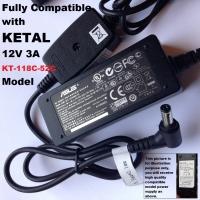 12V Power Adapter, Compatible To KETAL 12V 3A 28W KT-118C-52C Model, 5.5mm*2.1mm Tip, Branded & High Quality
