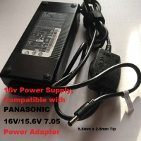 16v Power Supply for PANASONIC 15.6V/16V 7.05A/ 7A Model Laptop (This is pin modified genuine ibm brand adapter)