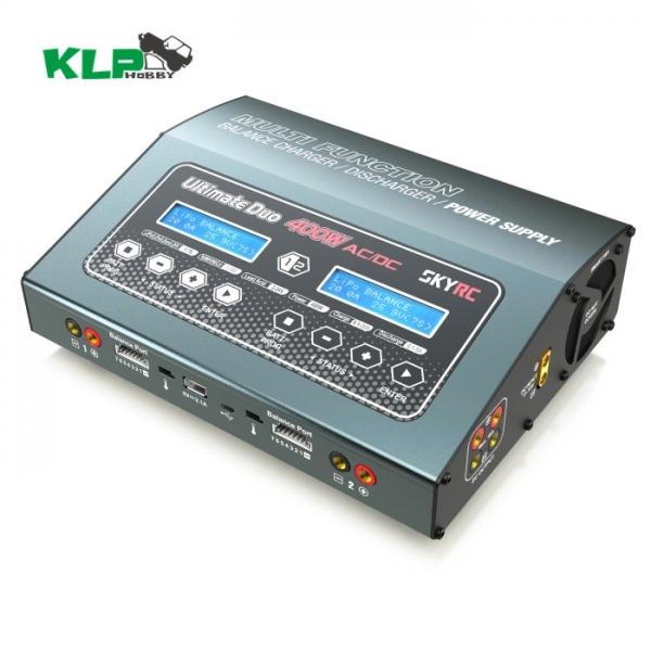 SKYRC D400 双路7S 20A 400W充放电器 电源(150W)车模 D400