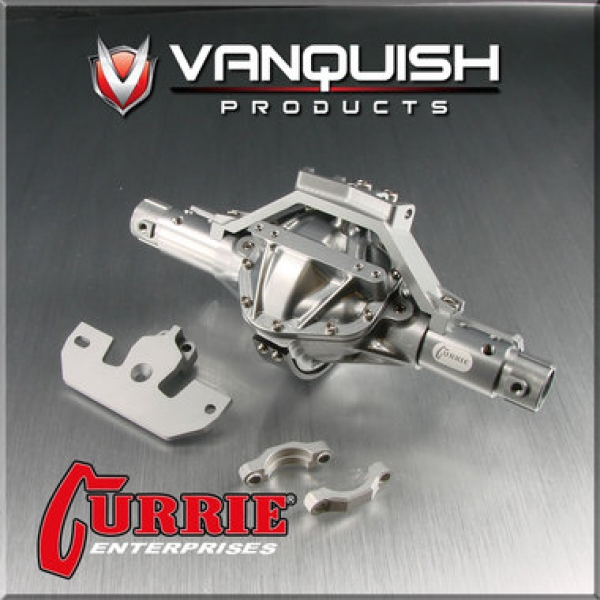 Vanquish Products Currie Rockjock SCX-10 front axle assembly Grey VPS06603