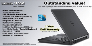 Dell Latitude 14 5000 Recertified Laptop