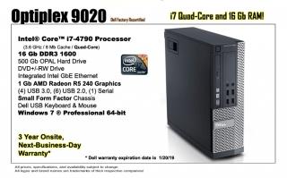 Dell Optiplex 9020 Recertified Desktop Computer