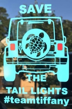 Save the Tail Lights #TeamTiffany Decal