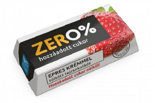 Szerencsi Zero Eper ízű krémmel töltött tejcsokoládé édesítőszerrel 21g
