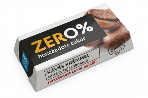 Szerencsi Zero Kávé ízű krémmel töltött tejcsokoládé édesítőszerrel 21g
