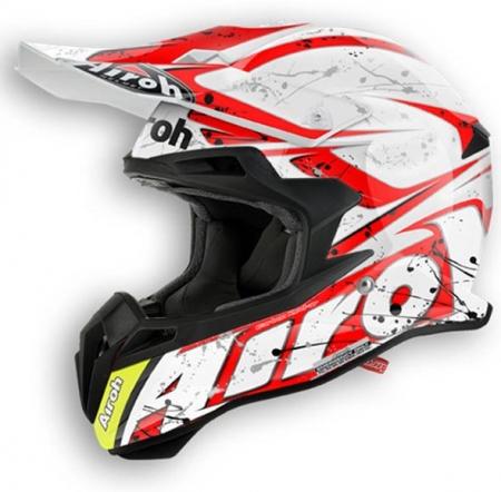Airoh Helmet Terminator 2.1 Splash Red Gloss