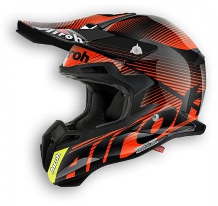 Airoh Helmet Terminator 2.1 Level Orange Gloss