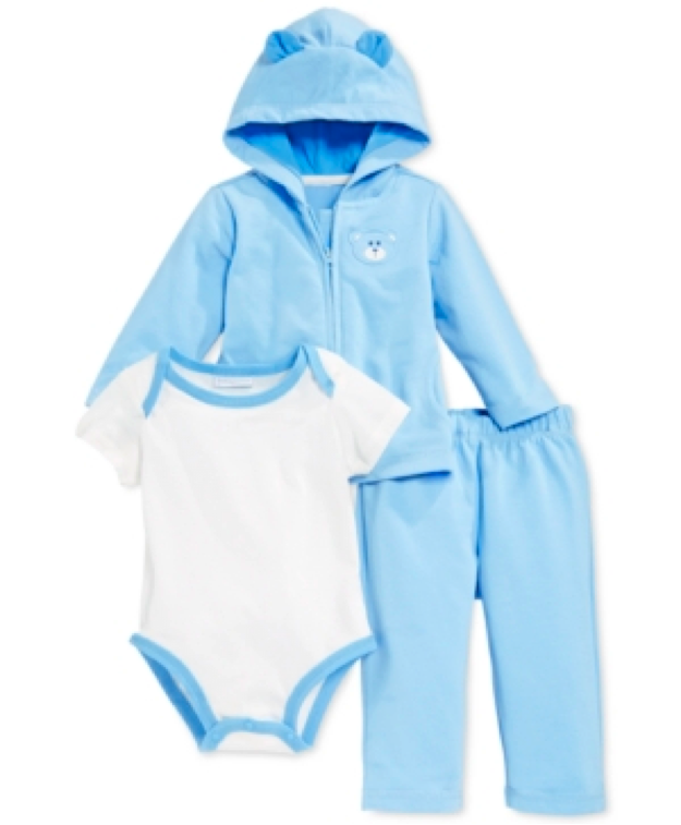 c5249e948 First Impressions Baby Boys' 3-Piece Terry Bodysuit, Jacket & Pants Set