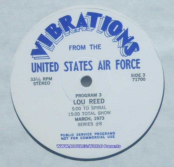 LOU REED 1973 - Vibrations From The United States Air Force