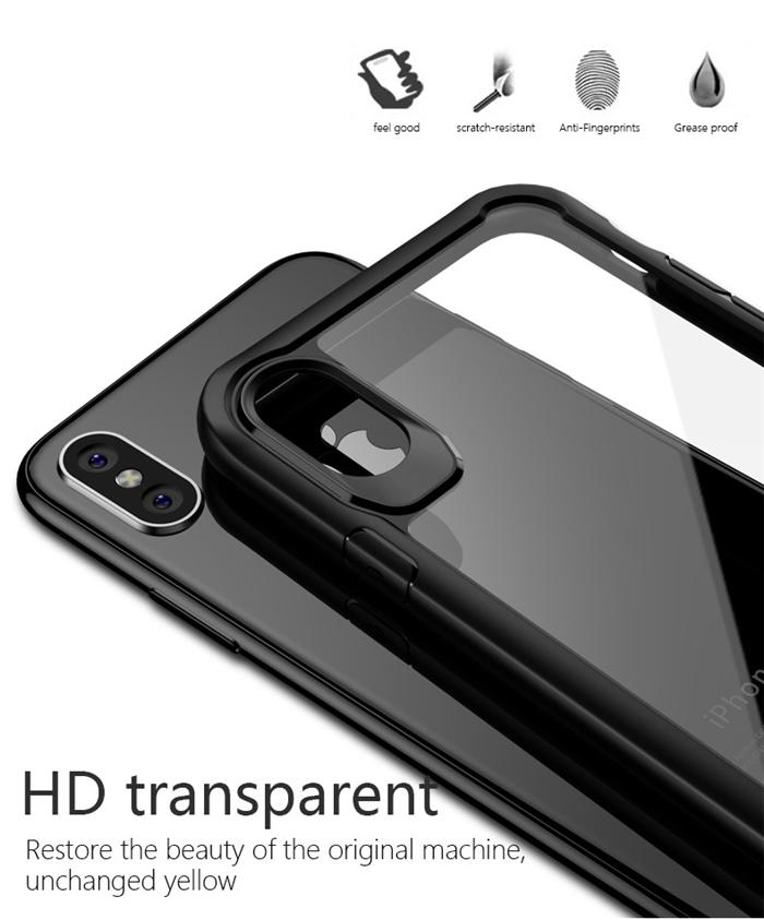 iphone x ケース クリア シリコン