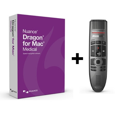 Dragon Medical pour Mac V.5 (Anglais) avec le SpeechMike Premium Touch de Philips