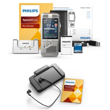 Philips Professional Digital Dictation and Transcription Kits (DPM8000 + LFH7277) with 1 Hour of Professional Services