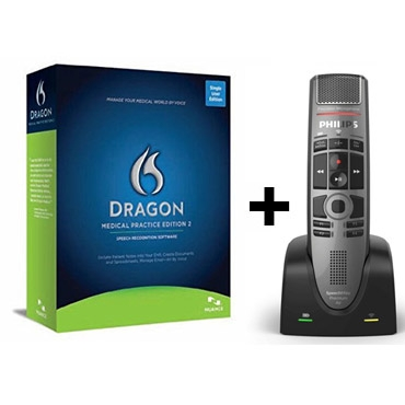Dragon Medical 2 French with Philips' SpeechMike Premium Air Wireless Microphone - SMP4000