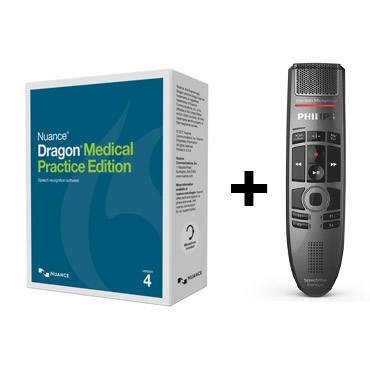 Dragon Medical Practice Edition 4 (English) with Philips' SpeechMike Premium Touch