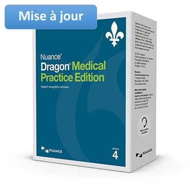 Nuance – Upgrade to Dragon Medical Practice Edition 4 (French)