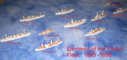 French & Russian vessel models