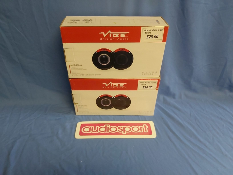 "Vibe PULSE4 4"" 2 way Coaxial 120W 100mm 10cm Speakers"