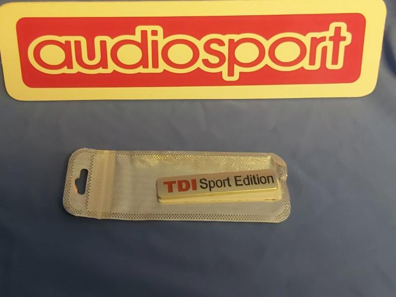 'TDI sport edition' grill/boot badge