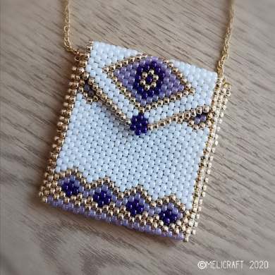 Beading Pattern | Amulet Purse 1 | ANGELICA | Odd Count Peyote