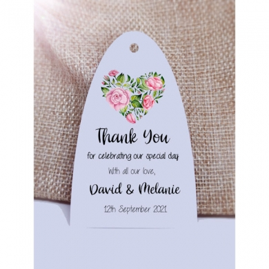Wedding Gift Tags | Wedding Favour Tags | Personalised Tags | Thank You For Celebrating | Floral Arc 1