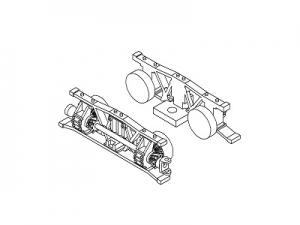 #1001B HOn30 13-ton Shay, Rear truck parts set