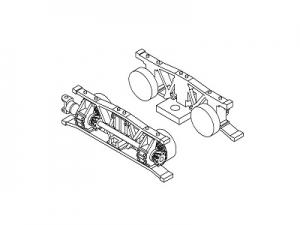 #1001D HOn30 13-ton Shay, Front truck parts set