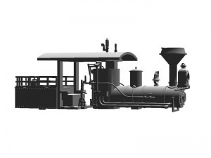 #1002 HOn 13-ton Shay, superstructure kit, T-boiler and open cab