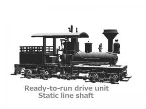 #1021 HOn30 13-Ton T-boiler Shay Kit - RTR drive unit, Static line shaft