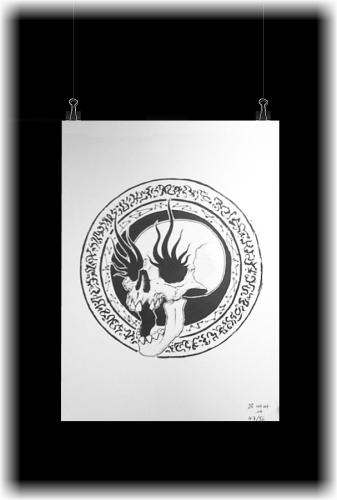 [x] Print 04 - Skull by Spiderdust