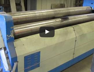 "Amerecon SRD-6-180 6' x 1/4"" 3-Roll Hydraulic Plate Bending Roll"