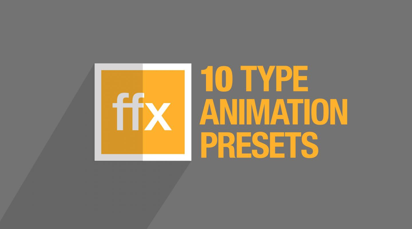 10 Free After Effects Type Animation Presets | Motion Array