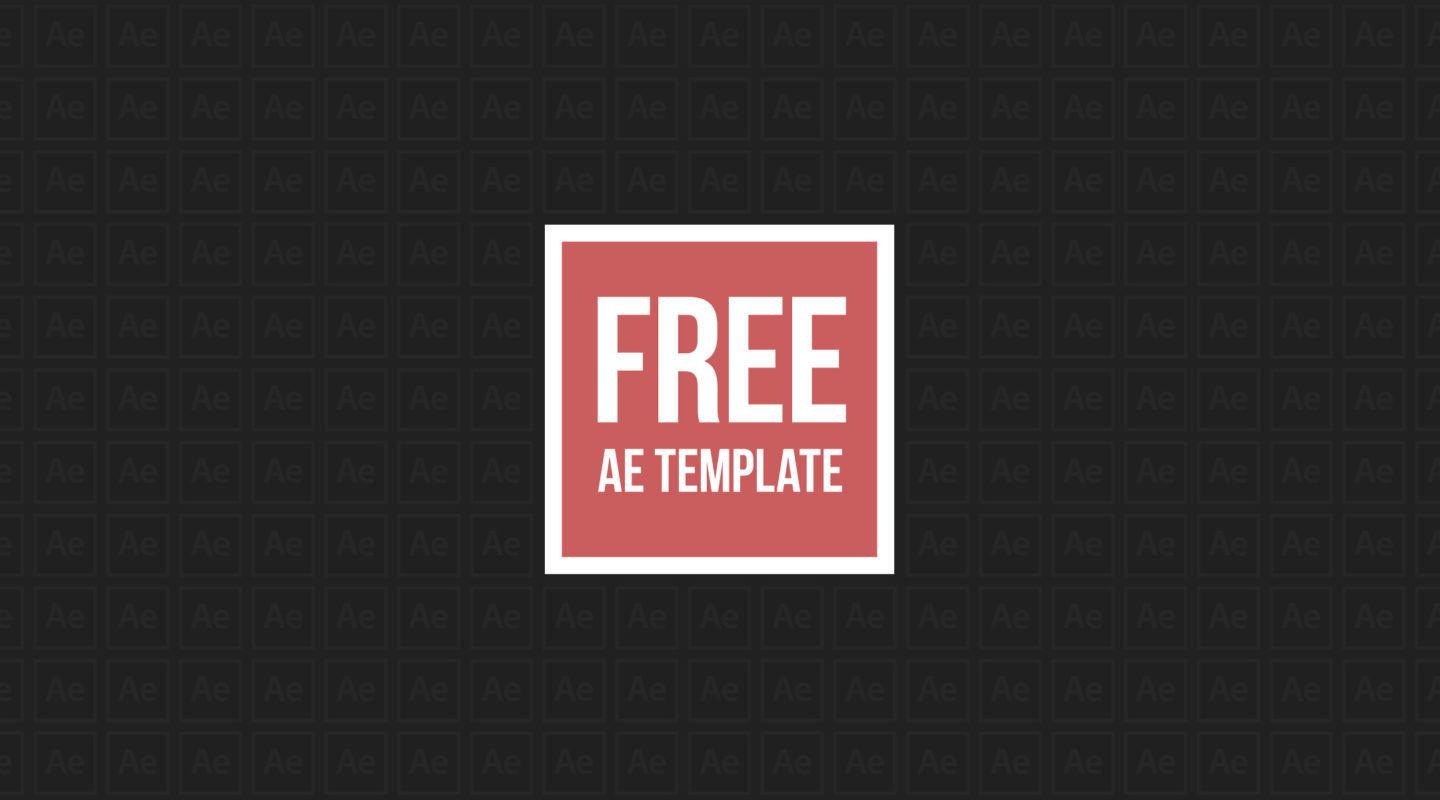 free ae templates - free cubic after effects template motion array