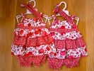 Girls cotton dress set 1066-0