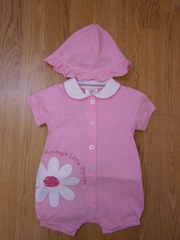 "Pink romper ""Mummy's little flower"" 13-007"