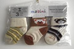 Socks - 3pk Headed Card-mabini