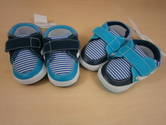 """bootees"""" nautical style with stripes""""  bb1453"""