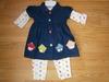 Denim dress & legging set Cupcakes 9116