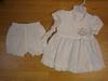 baby white cotton dress set & hairband -41 01