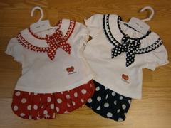 polka dot and strawberry balloon shorts set 41 06 (6pcs)