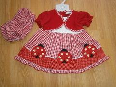 "Baby cardigan dress ""Ladybirds"" 1185"