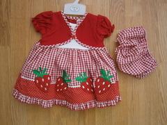 "Baby cardigan dress ""Strawberry"" 1186"