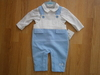 "boys 2pc dungaree set ""3 teddies"" CC1545"